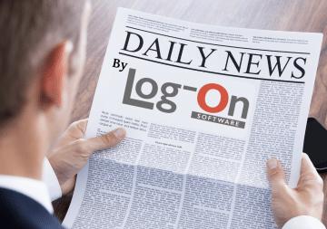 איש קורא עיתון לוג און ניוז חדשות